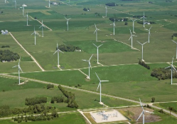wind farm from the air
